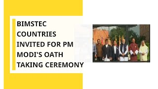 Leaders of BIMSTEC countries to attend Narendra Modi's oath-taking ceremony