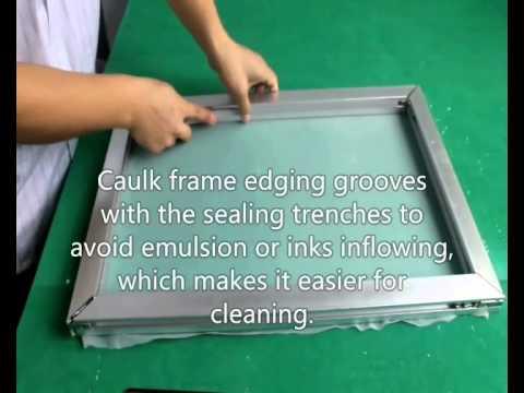 process of the self-tensioning aluminium alloy screen frame