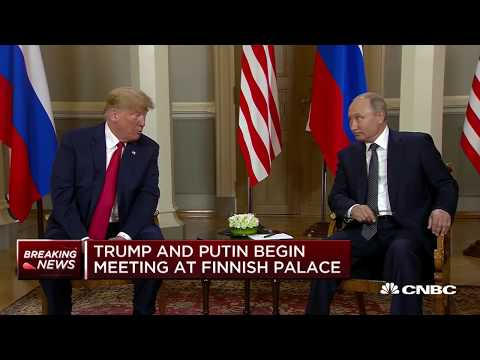 Trump-Putin arrive at Helsinki palace | Squawk Box Europe