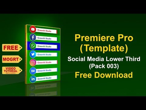 Premiere Pro Template L Social Media Lower Third Pack 003 L Mogrt File Free Download
