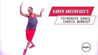 Karen Arceneaux's 10-Minute Dance Cardio Wokout | Health thumbnail