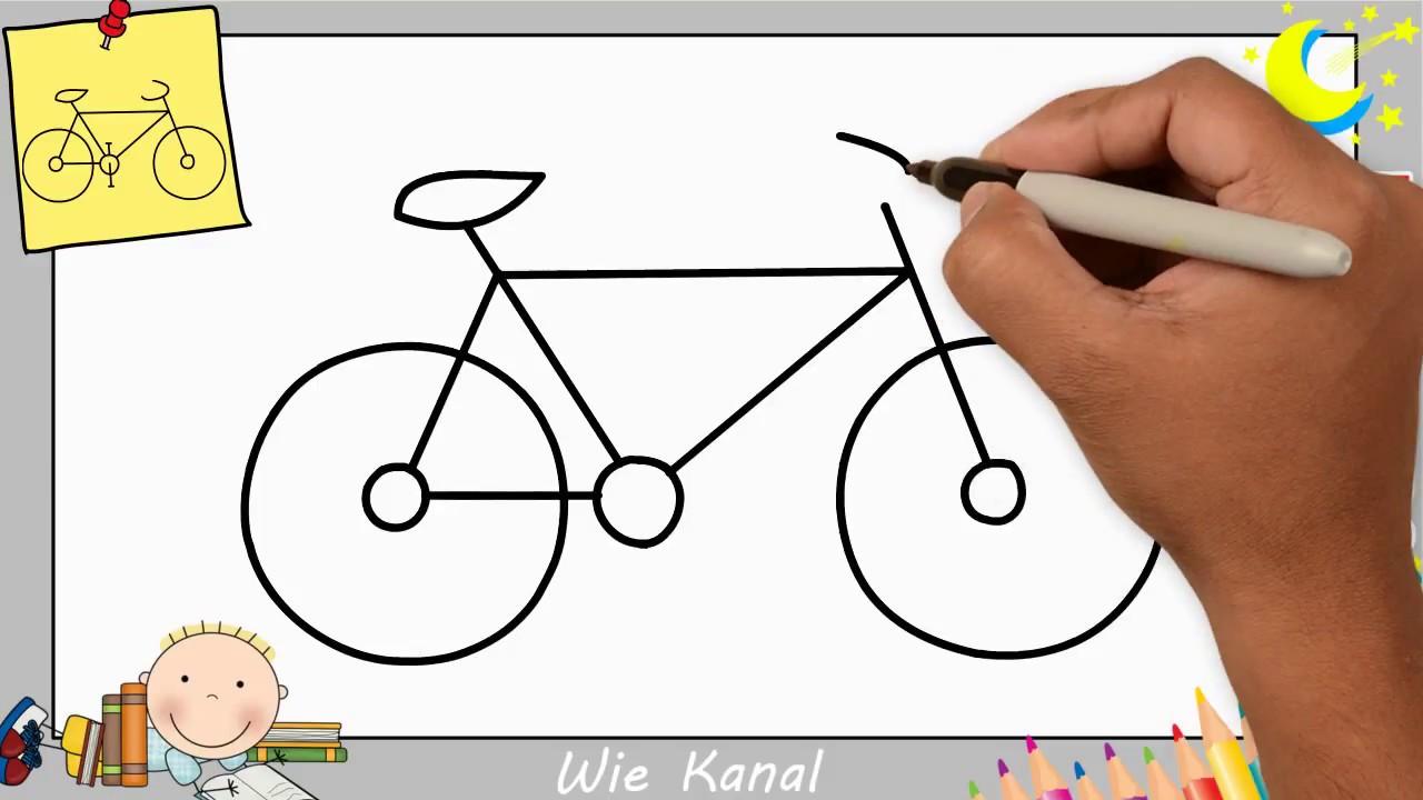fahrrad zeichnen lernen einfach aktualisieren f r anf nger kinder 3 youtube. Black Bedroom Furniture Sets. Home Design Ideas