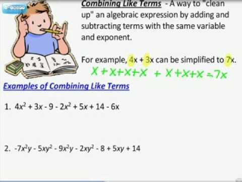 Combining Like Terms Youtube