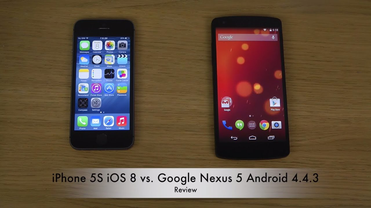 ios 8 on iphone 4 iphone 5s ios 8 vs nexus 5 android 4 4 3 kitkat 17327