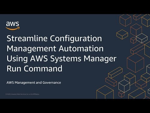 Streamline Configuration Management Automation Using AWS Systems Manager Run Command