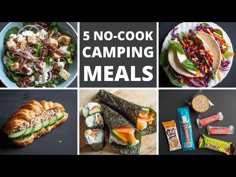 5 NO COOK Camping Meals Healthy / Low Carb / No Fridge / Veggie / Lightweight