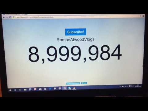 ROMANATWOODVLOGS HITS 9000000 SUBSCRIBERS, live subscriber count
