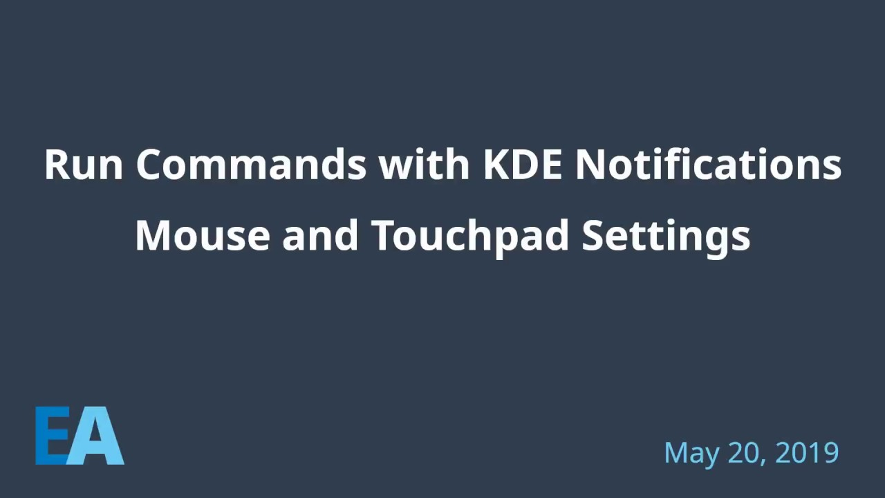 Using KDE Notifications to run a command - Switch between imwheel and  libinput-gestures