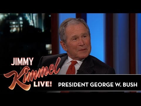 Thumbnail: Jimmy Kimmel & President George W. Bush Sketch Each Other