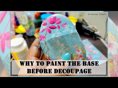 DECOUPAGE FOR BEGINNERS - DECOUPAGE ART - DECOUPAGE WITH NAPKIN - GROWING CRAFT