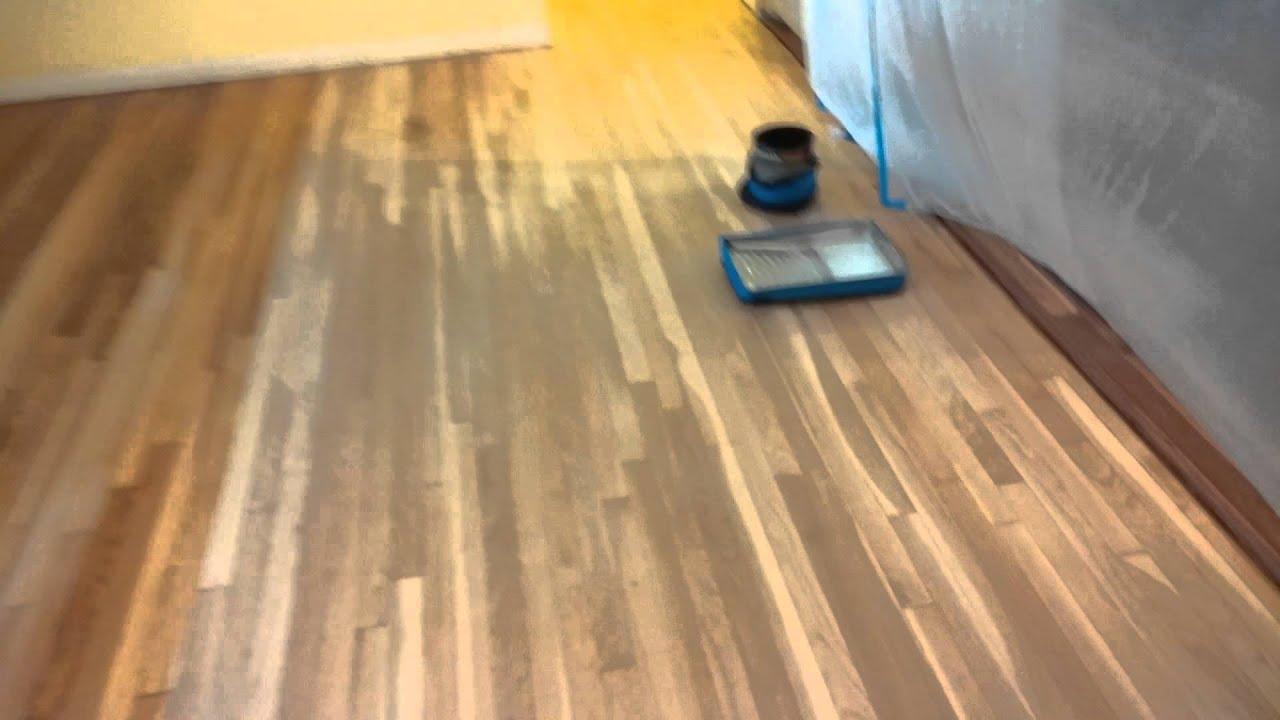 Hardwood Floor Minwax Sanding Sealer Youtube
