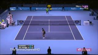 [Masters 2012] Highlights Novak Djokovic Vs Juan Martin Del Potro Semi Final