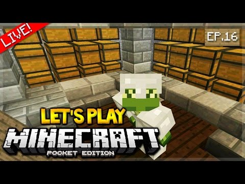 LIVE NOW - Let's Play Minecraft Pocket Edition 1.0 - interior designs Episode 16 (Pocket Edition)