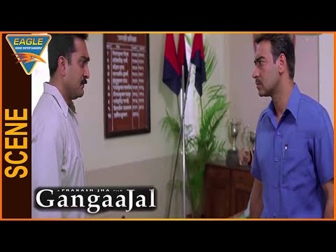Gangaajal Hindi Movie || Mukesh Tiwari Talking With Ajay Devgan || Eagle Hindi Movies