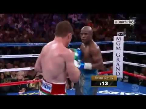 floyd mayweather boxing defense and counters against canelo