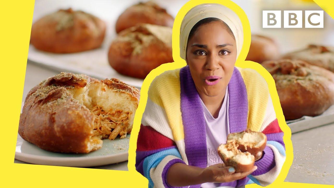 Nadiya's wicked tasty Chichen Donuts to blow your mind! | Nadiya Bakes - BBC