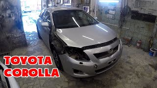 Восстановление безнадежно убит@й Toyota Corolla / ремонт / покраска