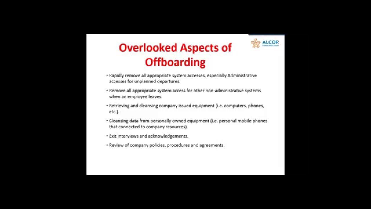 employee offboarding  u2013 the overlooked process