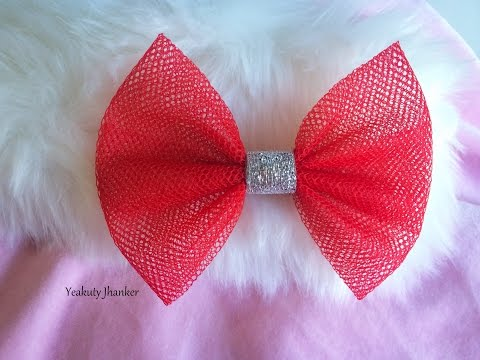 DIY: How to make a Tulle bow hair clip