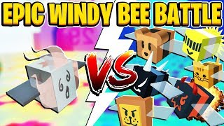 CRAZY Windy Bee Fight In Roblox Bee Schwarm Simulator