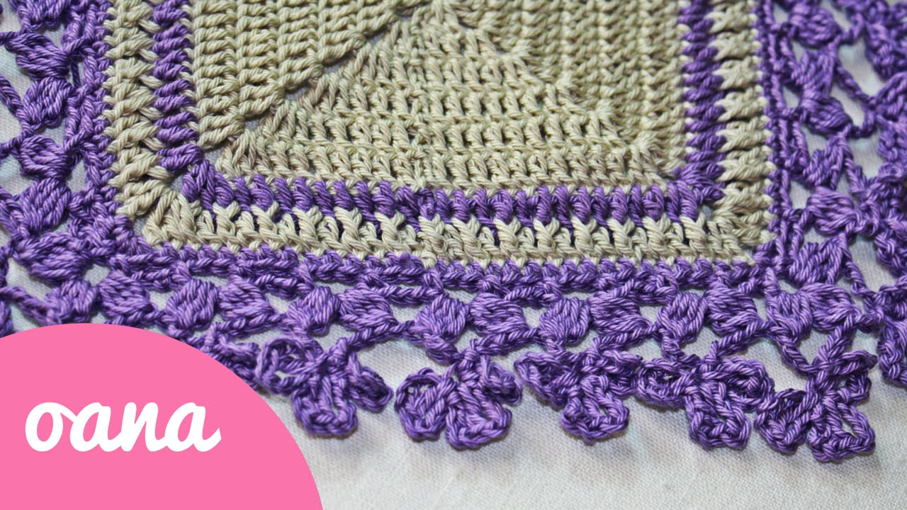 Youtube Crocheting Borders : crochet trefoil border - YouTube