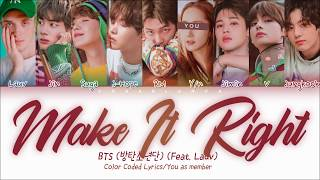 BTS (Feat. Lauv) — Make It Right with 9 members | 방탄소년단