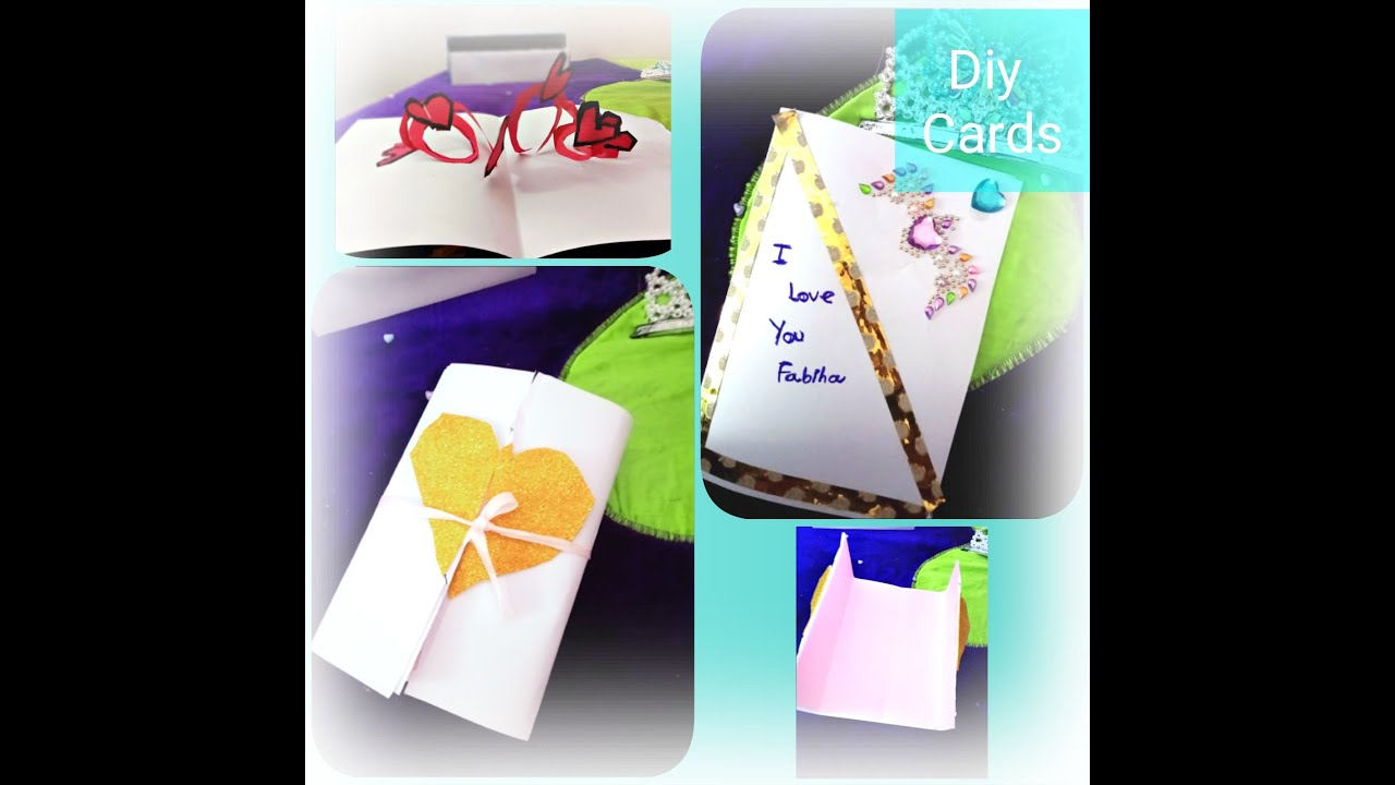how to make a beautiful card very easy  youtube