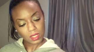 Dior Khaki Palette, Rodin Balm, Lancome Green Petal Gloss, and Sephora Mattifying Powder Thumbnail