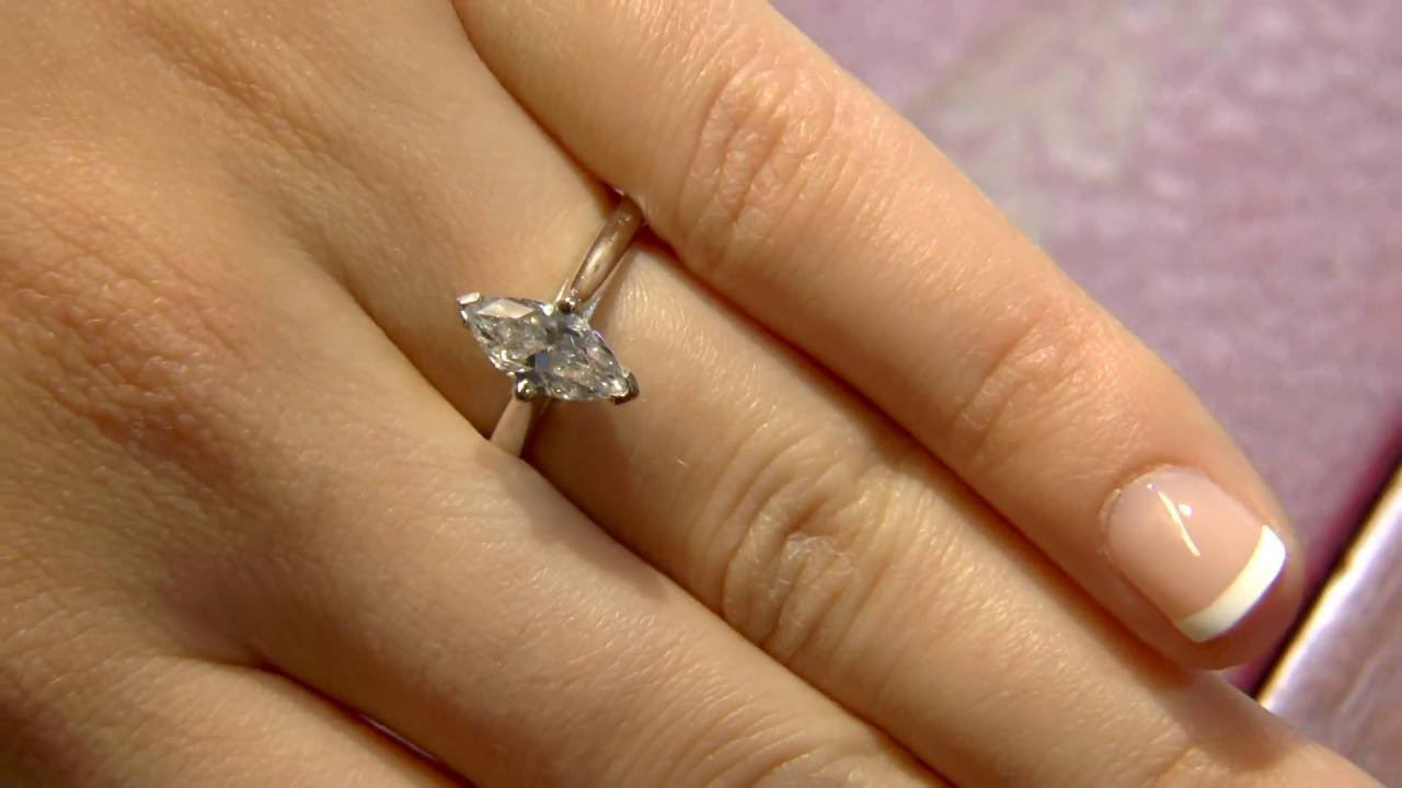 187dff4f382be 1.00 Carat Marquise Solitaire Engagement Ring SR1042 - YouTube