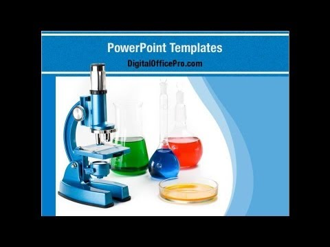 Chemistry PowerPoint Template Backgrounds - DigitalOfficePro #01929