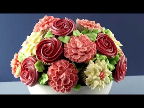 How to make CUPCAKE FLOWER BOUQUET recipe & How to make CUPCAKE FLOWER BOUQUET recipe - YouTube