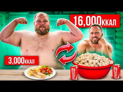 Поменялся ПИТАНИЕМ с ПЕЛЬМЕНЕМ! 16000 калорий ЧЕЛЛЕНДЖ
