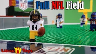 NFL Football Field and Minifigures Buildable Set   LEGO Compatible Set Review