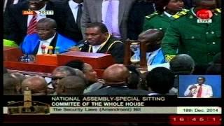 Kenyan Parliament turned into boxing ring