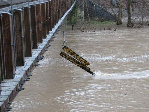 Turkey Run State Park Suspension Bridge Sign Found On Wabash River Afther Flood