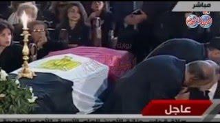 صلاة الجنازة على الراحل بطرس غالي  بالكنيسة البطرسية