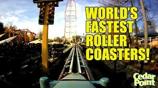 World's Fastest Roller Coasters! POV of the Top 4 Over 100 mph!