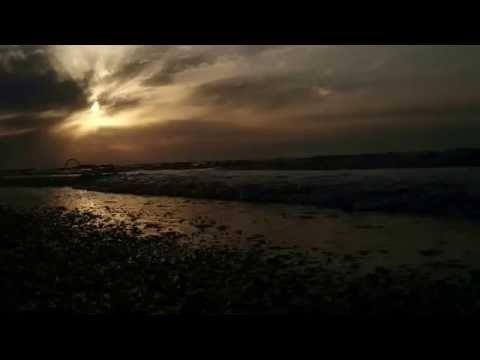 Novxani beach sunset Baku
