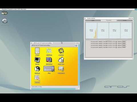 AROS SMP test, per-task cpu usage calculation