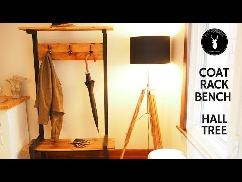 Coat Rack Bench   Hall Tree