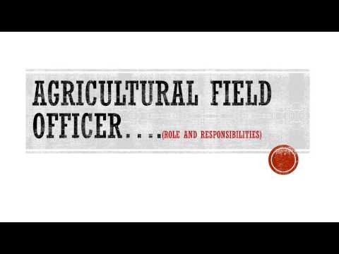 Roles & Responsibilities of Agricultural Field Officer by Ankit Kumar