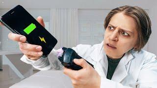 Что, если электрошокером ударить телефон?