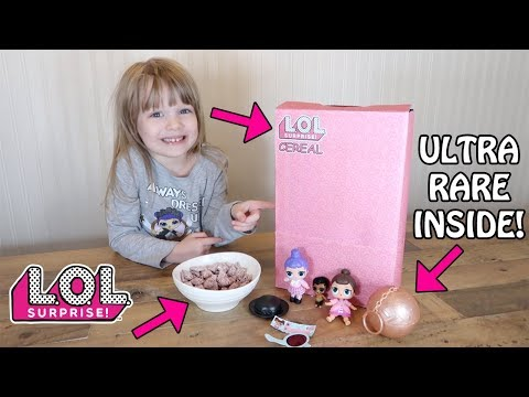 L.O.L. SURPRISE CUSTOM CEREAL! STRAWBERRY PUPPY CHOW RECIPE - CAME WITH ULTRA RARE LIL SISTER!