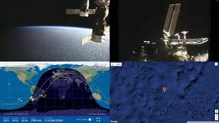 Sunset Over South America - NASA/ESA ISS LIVE Space Station With Map - 28 - 2018-07-17
