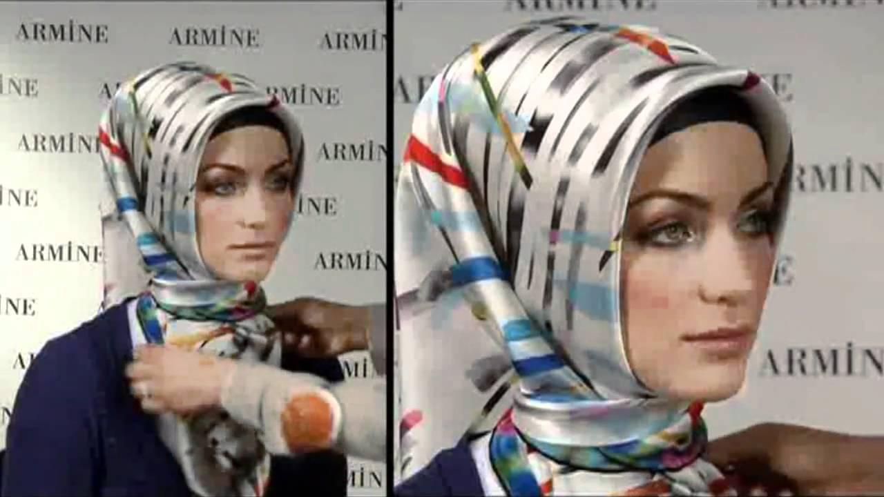 Gambar Tutorial Hijab Ibu Pejabat Tutorial Hijab