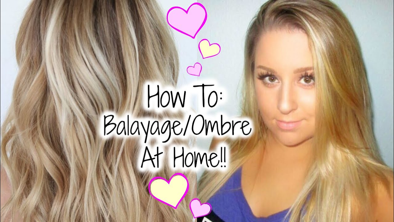 How To Balayage/Ombre your hair at home!! ♥ Hair Painting Tutorial , YouTube