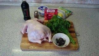 Курица на вертеле в кефирном маринаде и божественная запечённая картошка в духовке