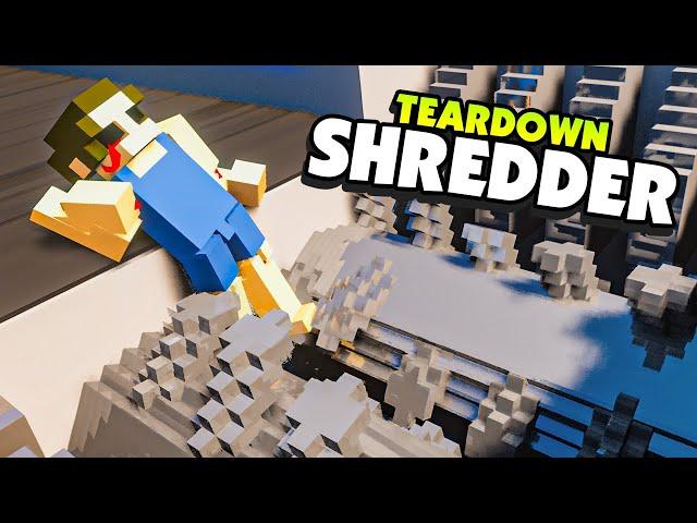 Grinding RAGDOLLS in a GIANT SHREDDER - Teardown Mods