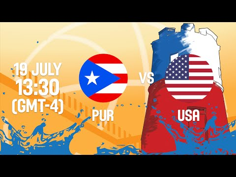 Puerto Rico v United States - Full Game - Group B - 2016 FIBA Americas U18 Men's Championship