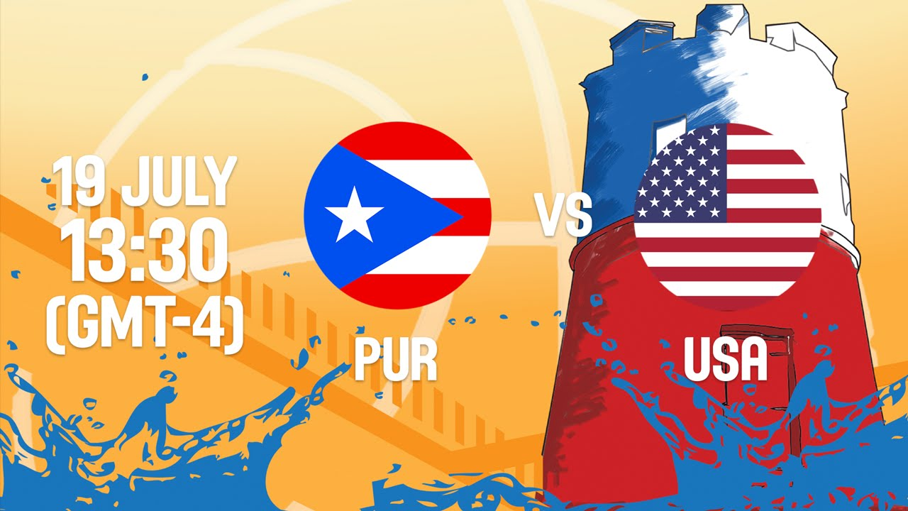 Puerto Rico v United States - Full Game - Group B - 2016 FIBA Americas U18  Men's Championship